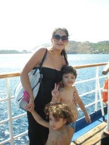 life turning point on Patmos-dina al hidiq zebib on cruise ship with children